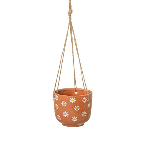 Sass & Belle Hanging Daisy Terracotta Planter