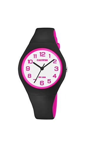 Calypso Damen Analog Quarz Uhr mit Silikon Armband K5777/8