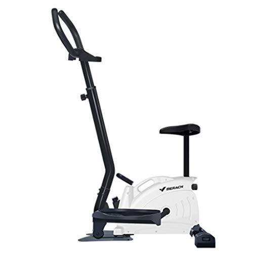 YNLRY Heim-Stepper für Erwachsene, leises Laufband, Outdoor-Sportgerät, für drinnen und draußen, Pedal-Maschine, klein, Mini-Trainingsgerät für Gewichtsverlust, metall, weiß, 75CM*49CM*148CM
