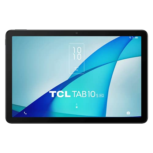 "TCL TAB 10S 4G - Tablet de 10.1"" FHD, Octa-Core, 3GB de RAM, Memoria de 32GB ampliable a 256GB por MicroSD, 8000 mAh de Batería, Android 10, T-Pen incluido, Gris [Versión ES/PT]"