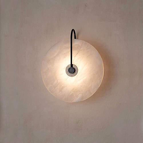 SLZDQNN Sala de estar mármol lámpara de pared/simple pasillo fondo lámpara de pared dormitorio creativo estudiar lámpara de pared decorativa de alto gusto