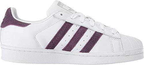 adidas Originals Superstar, Chaussures Plates Femmes, Blanc Rouge Nuit Argent Métallisé, 37.5 EU
