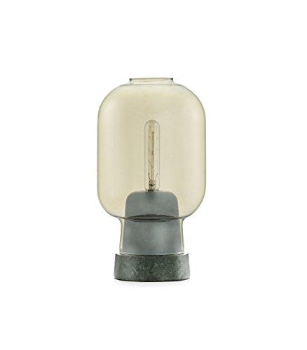 Normann Copenhagen - Lámpara de mesa, mármol vidrio tejido, Verde dorado., 26,5x14cm