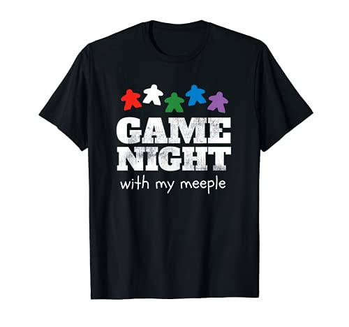 Game Night With My Meeple Funny Gift Board Game Player T-Shirt