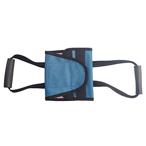 AQzxdc Lifter Leg Lifter Strap Oberschenkel Ältere Hebegeräte, Pflegeprodukte für gelähmte Betten, für Kinder mit Behinderungen, Mobilitätshilfen für Hüft- und Knieersatz,Blau,Without Railing