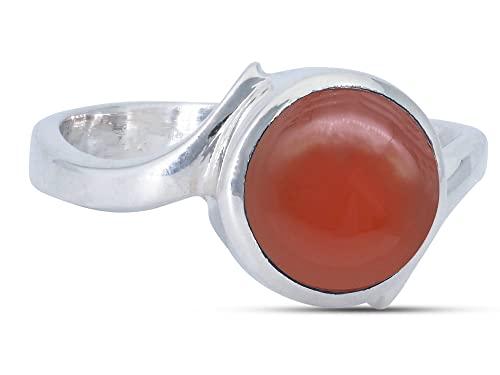 Anillo de plata de ley 925 cornalina (No: MRI 197), Ringgröße:60 mm/Ø 19.1 mm