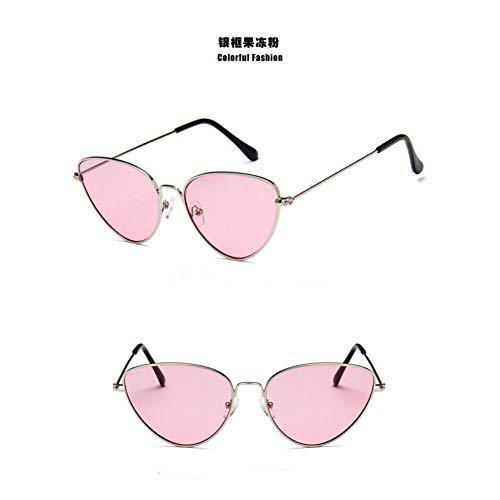 YOGER Sonnenbrillen Leichte Sommer Stile Vintage Metall Retro Frauen Sonnenbrillen Mode Männer Gelb Getönte Brillengläser Frauen Spiegel Form