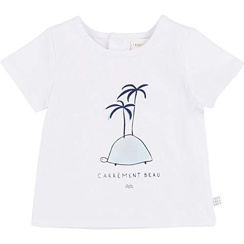 CARREMENT BEAU T-Shirt en Coton avec imprimé Bebe Couche Blanc 12MOIS