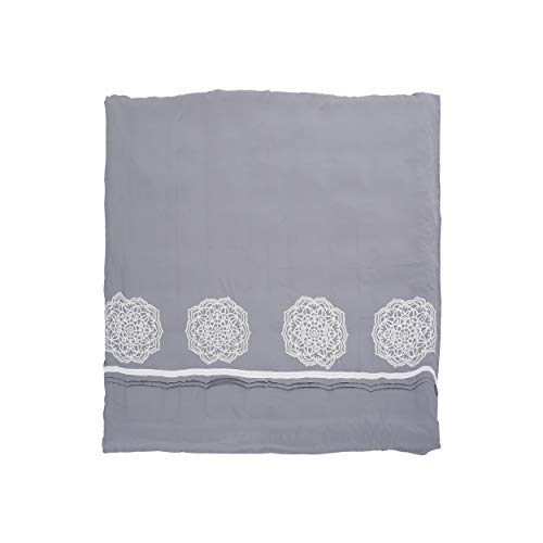 Christopher Knight Home 309043 Liliana Queen Size Fabric Duvet, Gray