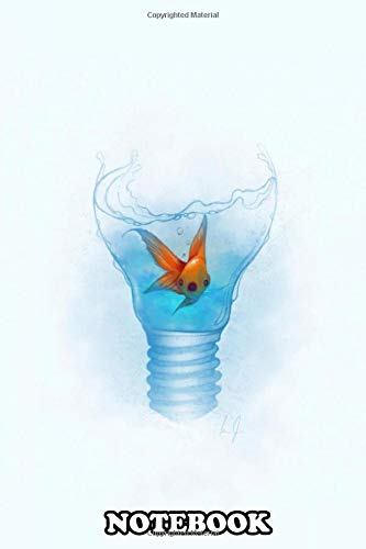 Notebook: Fish Within The Lamp , Journal for Writing, College Ruled Size 6' x 9', 110 Pages