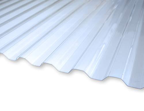 KAISER plastic® Xtra Strong (PC) Plaque ondulée, lisse et transparente, 90 x 120cm