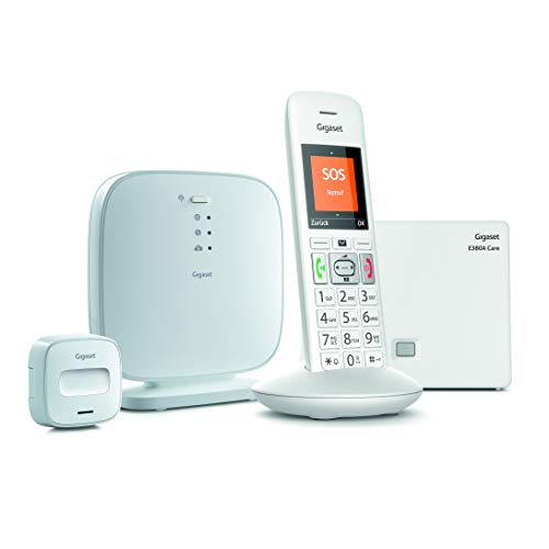 Gigaset - Alarma para Personas Mayores (con Sensor de Movimiento, Sensor Universal para Puertas y Ventanas, Sistema de notificación Inteligente, Solo Funciona con una suscripción de Servicio)