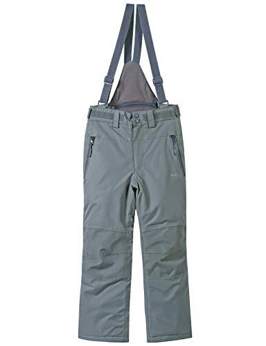 BenBoy Pantaloni Sci Bambini Ragazze Ragazzo Impermeabile Trekking Ski Pantaloni da Neve Arrampicata Escursionismo Invernali Pantaloni,KZ2226-Grey-128