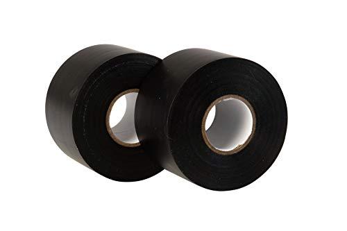 GTSE 2 Rollen breites, schwarzes PVC-Isolierband, 50 mm x 33 m, groß, 5,1 cm, robust, 2 Rollen