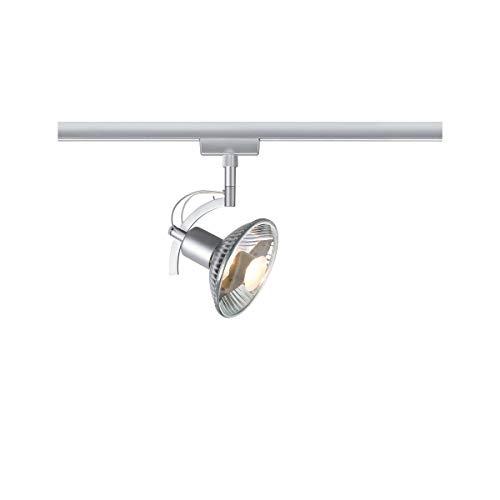 Preisvergleich Produktbild Paulmann 96845 URail Schienenleuchte System Light&Easy Spot Roncalli 1x50W GU10 Chrom 230V Metall Stromschienensystem,  Silber,  20 x 20 x 30 cm