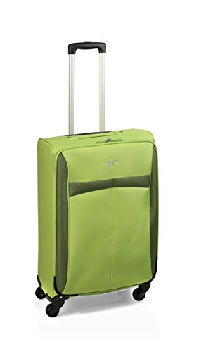Maleta de viaje de 4 ruedas, 60 cm, 56 L, Green de John Travel