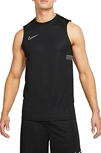 NIKE M NK DF ACD21 Top SL Vest, Black/White/Anthracite/White, L Mens
