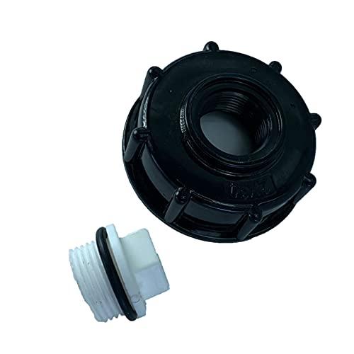 Milageto Conectores de válvula de bola de grifo de jardín de accesorios de tanque de agua de adaptador de tanque IBC - DN20