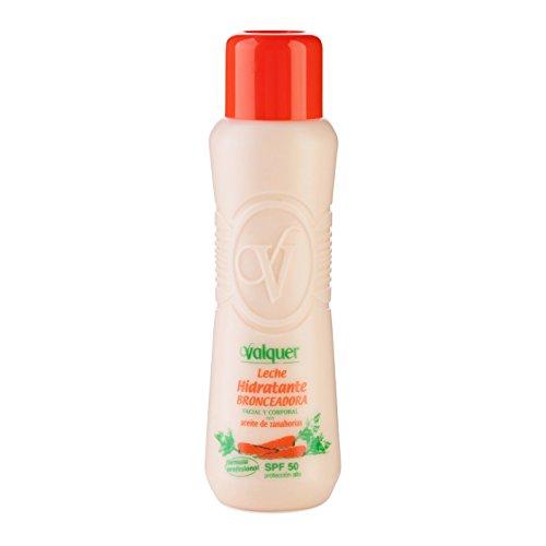 Válquer Leche Hidratante Bronceadora (SPF 50) - 500 ml.