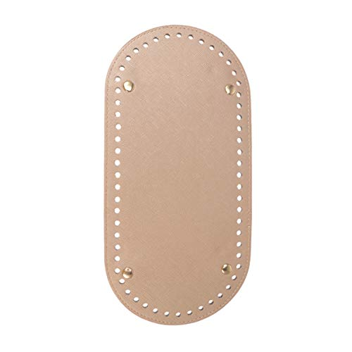 Healifty bolso de punto de ganchillo de cuero de ganchillo bolsa de cuero de fondo bolsa de cojín moldeador almohadilla bolsa diy accesorios de bolso (dorado)