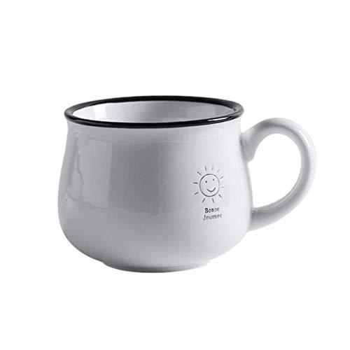 SCDMY Keramik Suppenschüssel und Griff Instant Nudelschüssel Obstsalat Mischen Servierschüssel Terrine Ofen Mikrowelle Saf