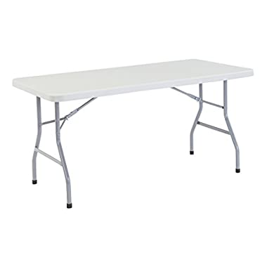 NPS 30  x 60  Heavy Duty Folding Table, Speckled Gray, 1,000 lb Capacity