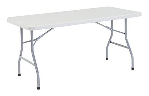 NPS 30' x 60' Heavy Duty Folding Table, Speckled Gray, 1,000 lb Capacity