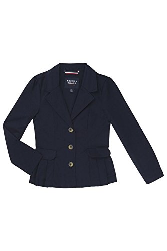French Toast School Uniform Girls Twill Blazer, Navy, 16