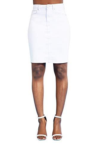 Falda Vaquera para Mujer Minifalda Jeans Casual Elastica para Verano