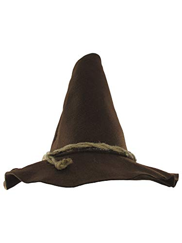 Deluxe Felt Scarecrow Hat, Brown, One Size
