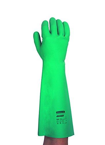 Kimberly Clark 25622 Jackson Safety G80 Nitril-Chemikalienschutzhandschuhe mit Langer Stulpe, Handspezifische Paare, 45 cm, Grün (12-er pack)