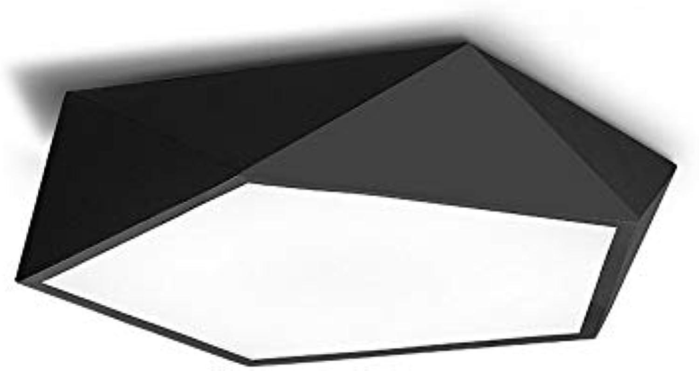 Sakj-d Deckenleuchte Wohnzimmer Schlafzimmer Studie Led Geometrische Stereo-Deckenleuchte, Wei 42Cm