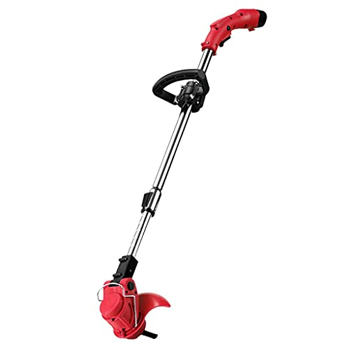 FBDGNG Cortacésped de mano con batería de litio Home Garden Patio puerta delantera césped arbusto inalámbrico eléctrico de mano de litio tijeras de corte de rodillo trasero/rojo