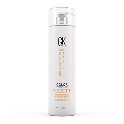 Global Keratin GKhair Moisturizing Conditioner Color Protection (1000ml/ 33.8 fl.oz) Organic Oil Extracts - Sulfate, Paraben Free - For Damaged and Dry Hair Conditioning - Unisex   All Hair Types