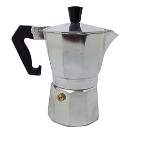 Ducomi Moka Express – Cafetera expreso de aluminio – Mango térmico para un café italiano cremoso y especial – Satisfacción o reembolso 2 Tazze plateado: Amazon.es: Hogar