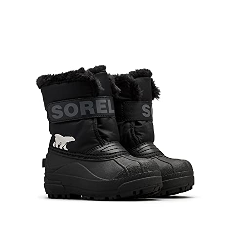 Sorel Toddler Snow Commander Boot for Rain and Snow - Waterproof - Black, Charcoal - Size 7