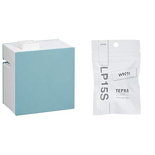 【セット買い】キングジム ラベルプリンター スマホ専用 「テプラ」Lite 青 LR30アオ & Lite専用テープ テプラ LP15S ホワイト