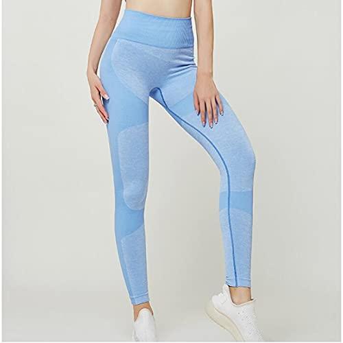 YSDSBM Deporte Yoga Gradiente de Color energía Legging Mujeres Entrenamiento Fitness Jogging Pantalones para Correr Gimnasio Mallas Estiramiento Ropa Deportiva Leggings de Yoga