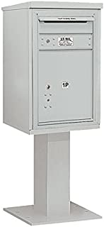 Salsbury Industries 3407S-1PGRY 4C Pedestal Mailbox, Gray