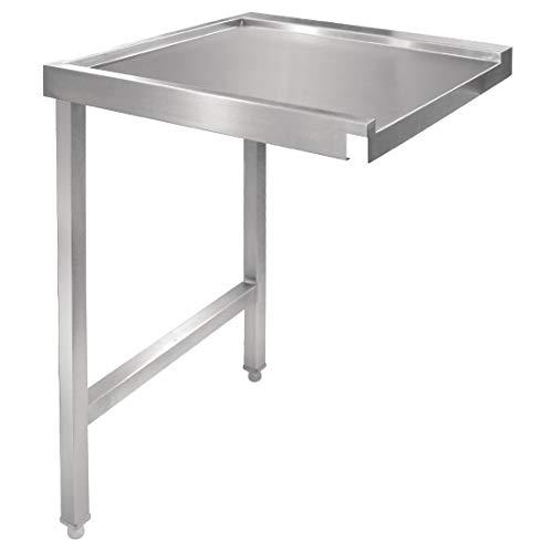 Vogue Table de lave-vaisselle gauche en acier inoxydable 1100 mm