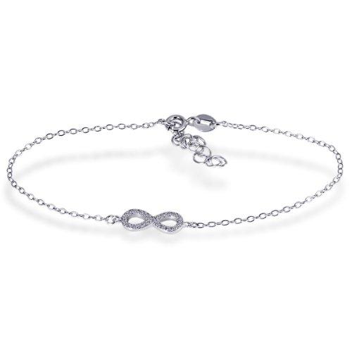 Goldmaid Damen-Armband Infinity 925 Sterlingsilber 24 weiße Zirkonia Schmuck