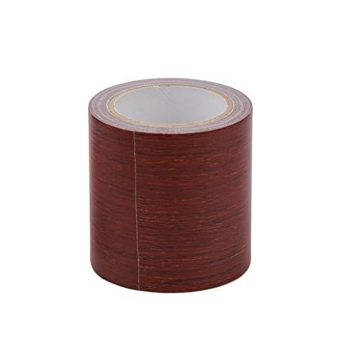 YUYUE21 (1 Rotolo Simulazione di Riparazione di mobili in Legno Nastro Tape-1# Luce Vino Rosso Pesca venatura del Legno