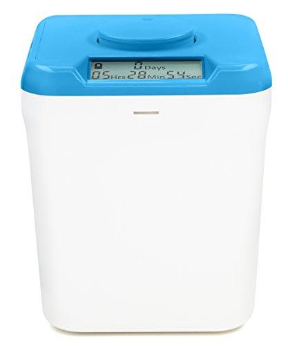 Kitchen Safe Verschlussbehälter mit Zeitschaltuhr Blue Lid + White Base
