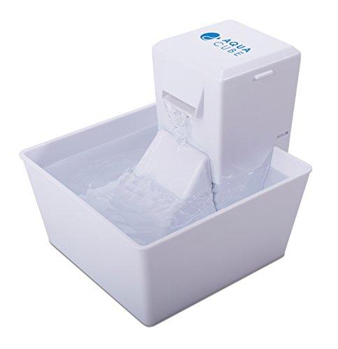 Fontaine pour Animaux en Plastique sans BPA Aqua Cube pour Chat / Petit Chien, Petite et Compacte