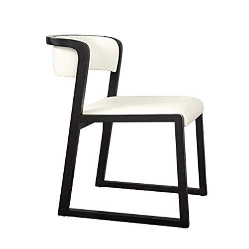 HONYGE LXGANG Sillas de comedor de cocina para mostrador de comedor, silla de PU con cojín de madera maciza para cocina, comedor (color, tamaño: 48 x 55 x 72 cm) silla de comedor