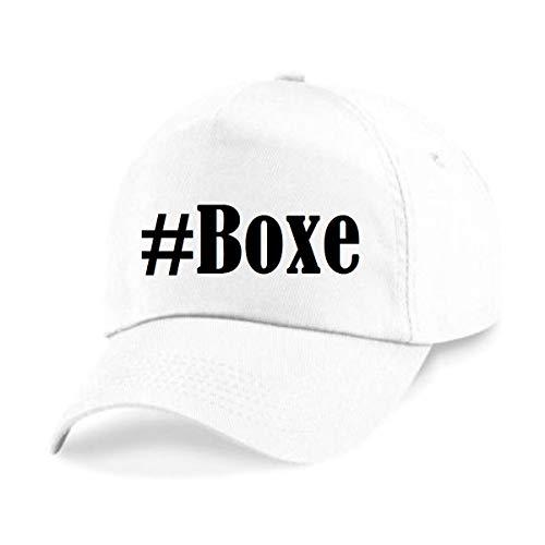 Base Cap Hashtag #Boxe Baseball Cap Basecap Hashtag ruit voor dames heren en kinderen in de trendy kleuren zwart en wit Hip Hop Streetwear Baseball-pet met het grote scherm