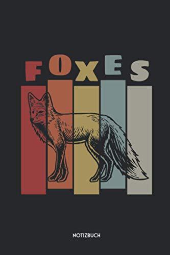 Foxes Notizbuch: Schönes Fuchs Büchlein   Dotted Notebook / Punkteraster   120 gepunktete Seiten   ca. A5 Format   Individuelles Journal   Journaling Geschenk für Tierfreunde