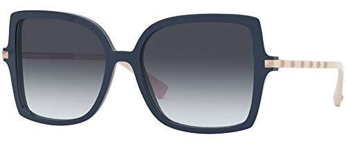 Valentino Sonnenbrillen ROCKSTUD VA 4072 BLUE/GREY SHADED 56/17/140 Damen