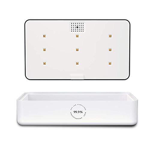 okcsc - Caja de esterilizador de teléfono móvil con función de aromaterapia de carga USB, limpiador UV para teléfono y todos los pequeños accesorios