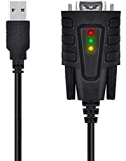 DriverGenius Cable Adaptador Serie Macho, USB a RS232 / DB9 9 Pin Com Convertidor Adapter - para Serials Modem, Router Cisco, GPS, Actualización de Firmware (USB to RS232)